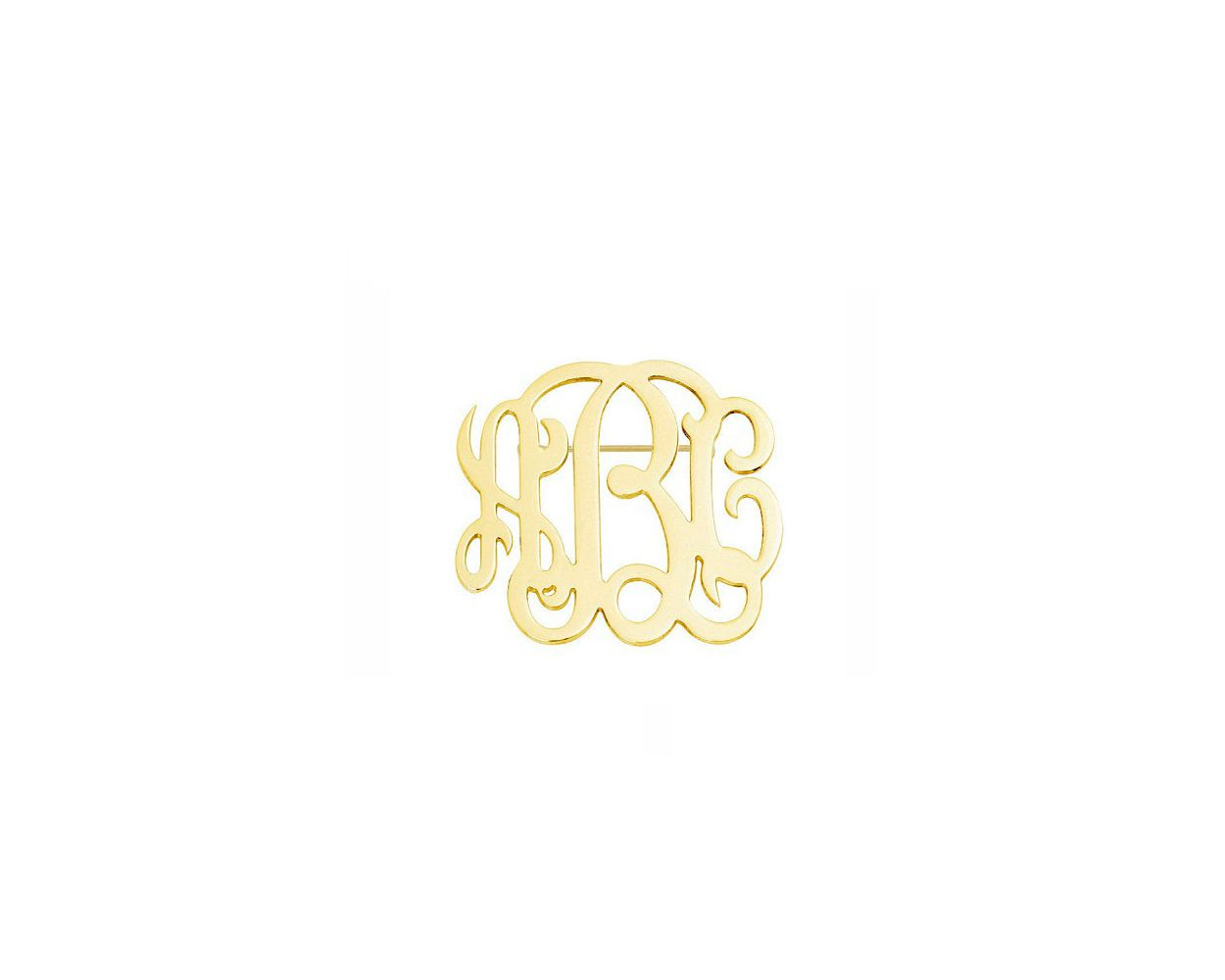 Initials Disc monogram Brooch 1 inch to 3 inches any initial silver monogram Brooch in 925 sterling silver Name Pin NICKEL FREE