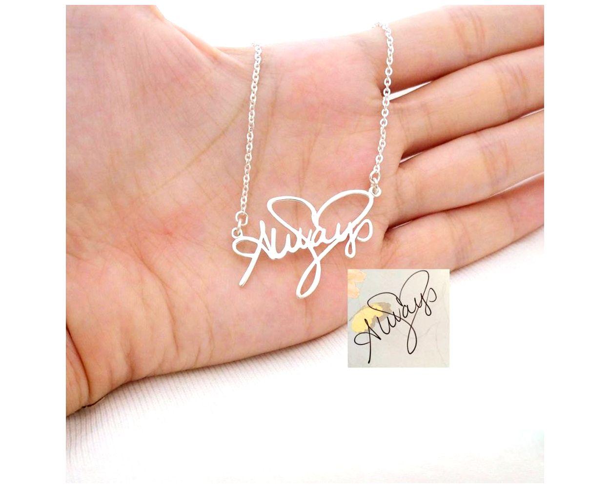 memorial signature handwriting jewelry
