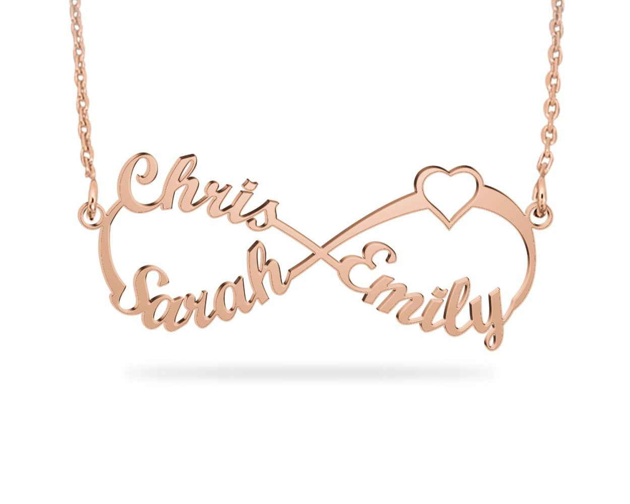 Heart Personalized Name Necklaces for people you loved Engraved with Sterling Silver Necklace